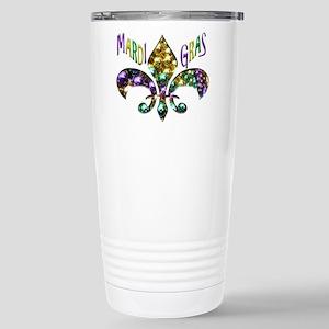 Mardi Gras Fleur Travel Mug