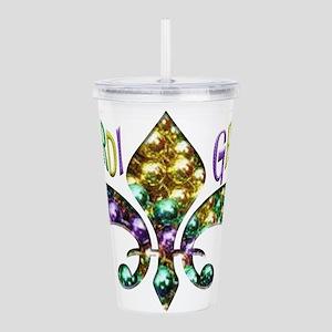 Mardi Gras Fleur Acrylic Double-wall Tumbler