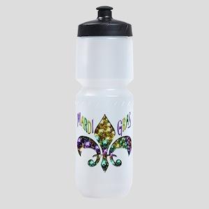 Mardi Gras Fleur Sports Bottle