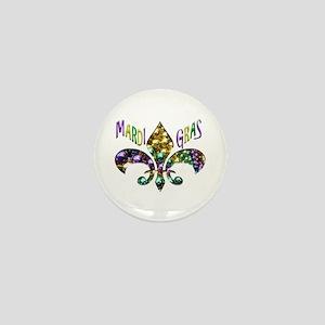 Mardi Gras Fleur Mini Button