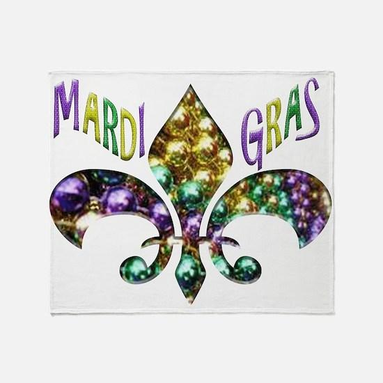 Mardi Gras Fleur Throw Blanket