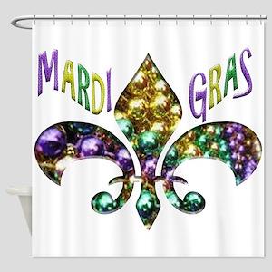 Mardi Gras Fleur Shower Curtain