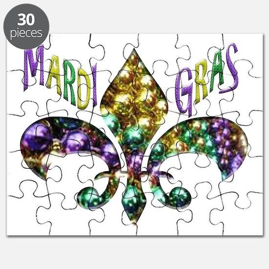 Mardi Gras Fleur Puzzle