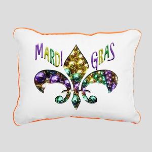 Mardi Gras Fleur Rectangular Canvas Pillow