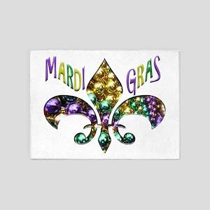 Mardi Gras Fleur 5'x7'Area Rug