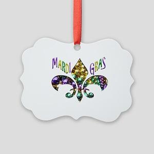 Mardi Gras Fleur Picture Ornament