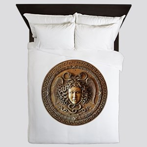 Greek Shield Medusa Queen Duvet