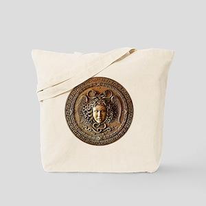 Greek Shield Medusa Tote Bag