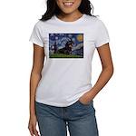 Starry Night Dachshund Women's T-Shirt