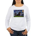 Starry Night Dachshund Women's Long Sleeve T-Shirt