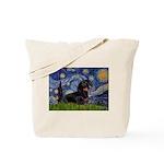 Starry Night Dachshund Tote Bag