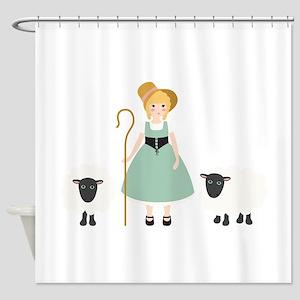 Little Bo Peep Shower Curtain