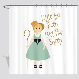 Lost Her Sheep Shower Curtain