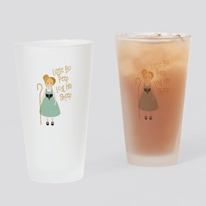 Lost Her Sheep Drinking Glass