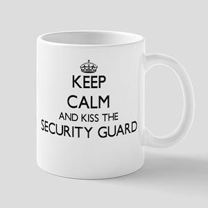 Keep calm and kiss the Security Guard Mugs