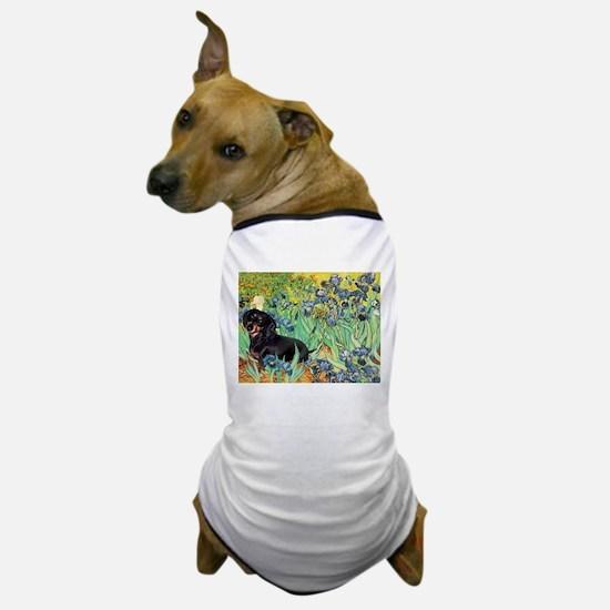 Irises & Dachshund (BT4) Dog T-Shirt