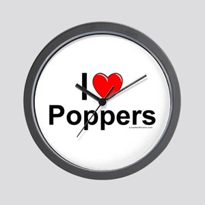 Poppers Wall Clock