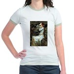Ophelia's Dachshund Jr. Ringer T-Shirt
