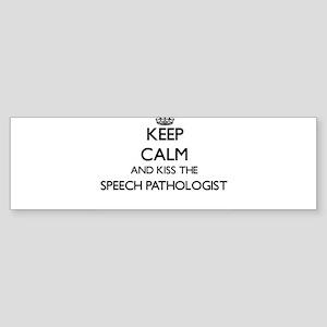Keep calm and kiss the Speech Patho Bumper Sticker