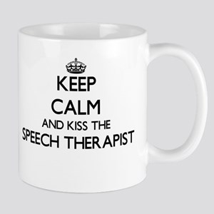 Keep calm and kiss the Speech Therapist Mugs