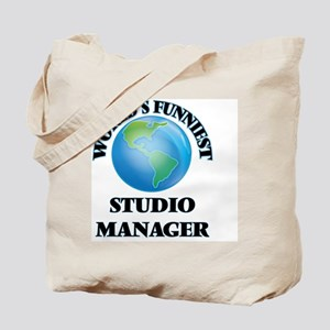 World's Funniest Studio Manager Tote Bag