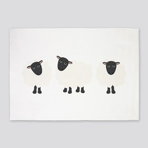 Count Sheep 5'x7'Area Rug