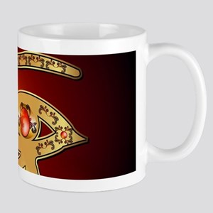 The mystical all seeing eye in gold and red Mugs