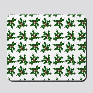 Holly and Berries Pattern Mousepad