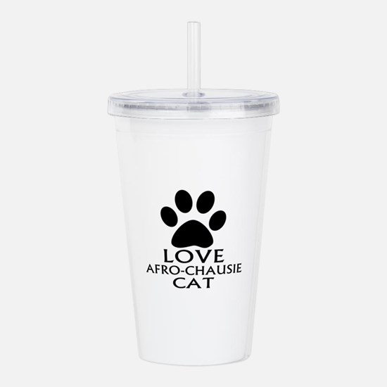 Love Afro-chausie Cat Acrylic Double-wall Tumbler