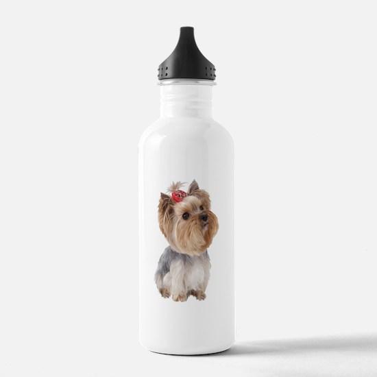 Yorkie Portrait Water Bottle