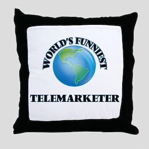 World's Funniest Telemarketer Throw Pillow