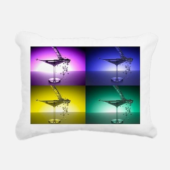 Martini Rectangular Canvas Pillow