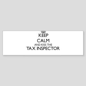 Keep calm and kiss the Tax Inspecto Bumper Sticker