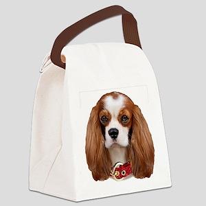 Cavalier King Charles Portrait Canvas Lunch Bag