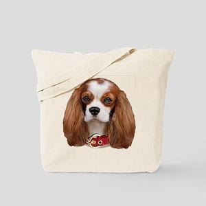 Cavalier King Charles Portrait Tote Bag