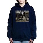 Elephant Eyes Woodcut Women's Hooded Sweatshirt