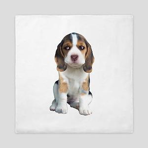 Beagle Puppy Portrait Queen Duvet