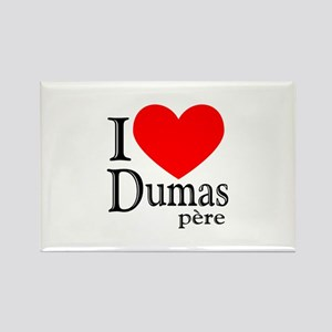 I Love Dumas Pere Rectangle Magnet