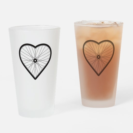 Love Mountain Biking Drinking Glass