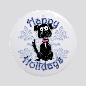 Bonnie's Border Collie Holiday Ornament (Round)