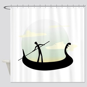 Venice Boat Shower Curtain