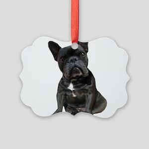 French Bulldog Puppy Portrait Picture Ornament