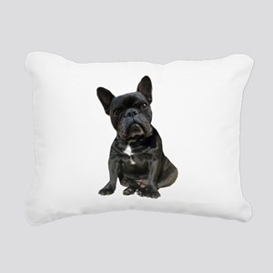 French Bulldog Puppy Por Rectangular Canvas Pillow