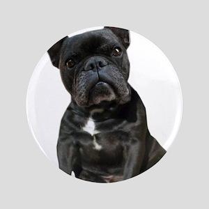 "French Bulldog Puppy Portrait 3.5"" Button"