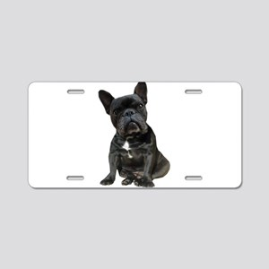 French Bulldog Puppy Portra Aluminum License Plate