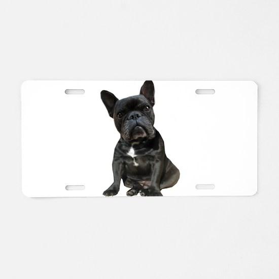 French Bulldog Puppy Portra Aluminum License Plate