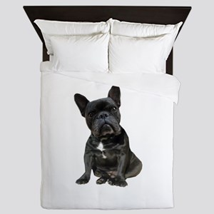French Bulldog Puppy Portrait Queen Duvet