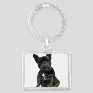 French Bulldog Puppy Portrait Landscape Keychain