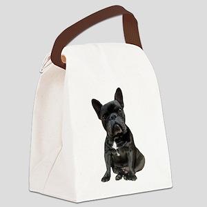 French Bulldog Puppy Portrait Canvas Lunch Bag