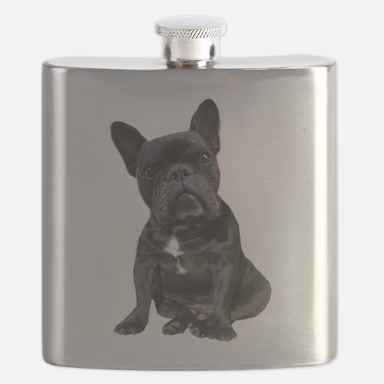 French Bulldog Puppy Portrait Flask